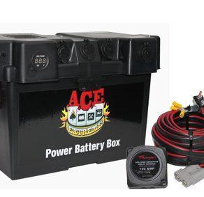 ACE BATTERY BOX 2 X CIG MERIT AND ENGEL WITH THUMPER VSR CHARGE KIT