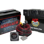 THUMPER 120AH REDBACK EXTREME AND ACE BATTERY BOX 2 X CIG AND 2 X MERIT WITH THUMPER VSR CHARGE KIT