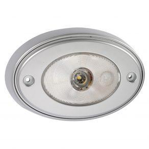 10 30 Volt 1W LED Silver Satin Courtesy Lamp with Off On Switch and Mounting Spacer