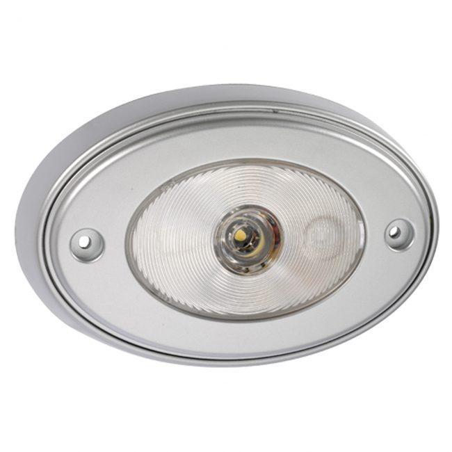 Narva 10 30 Volt L E D Courtesy Strip Lamp: Narva 10-30 Volt 1W L.E.D Silver Satin Courtesy Lamp With