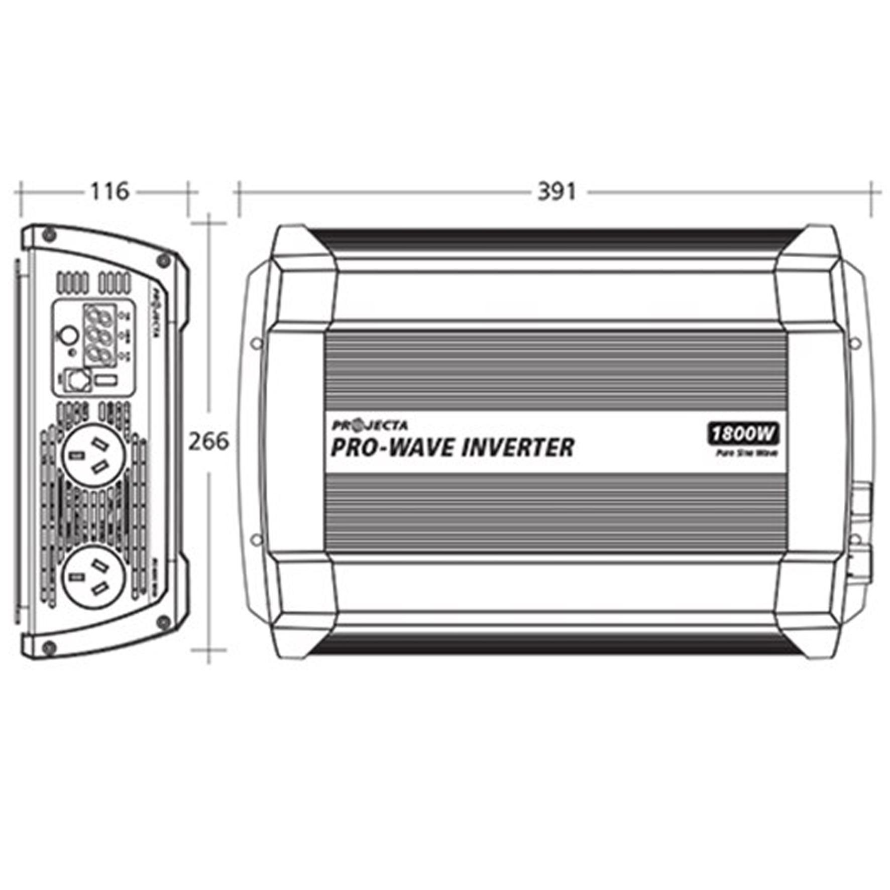 Projecta Pro Wave 1800 Watt Inverter Home Of 12 Volt