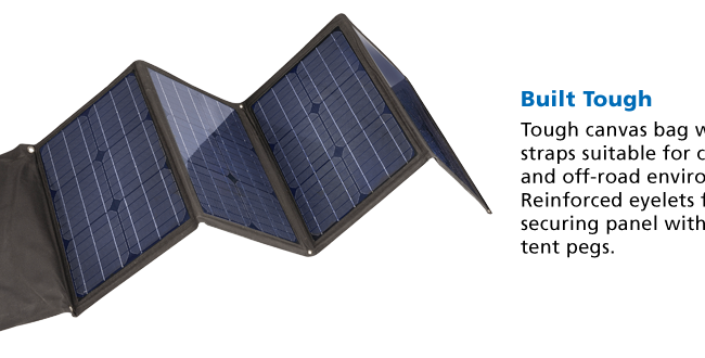 Projecta 80 Watt Folding Solar Panel Home Of 12 Volt