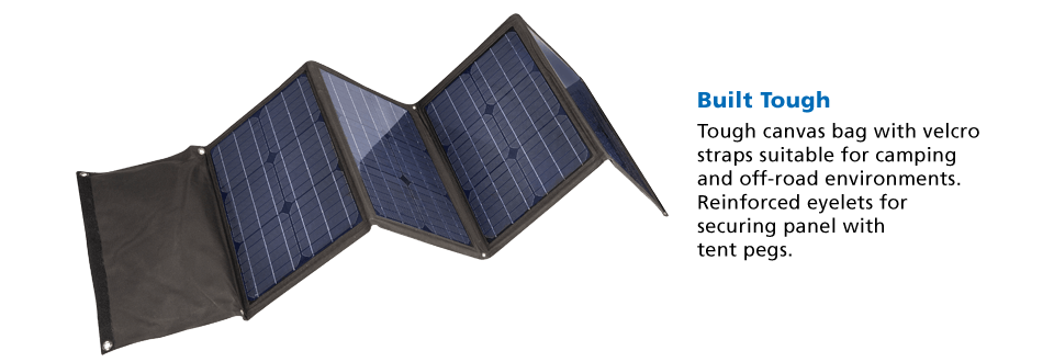 Projecta 120 Watt Folding Panel Home Of 12 Volt