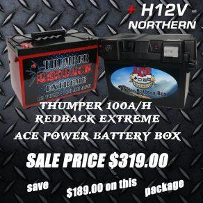 thumper-100ah-redback-extreme-with-ace-power-battery-box