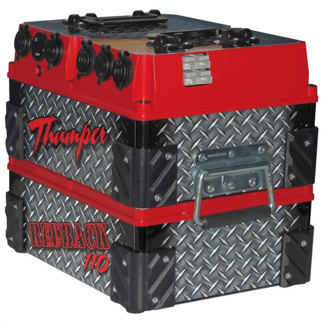110 A H Thumper Redback With 60 Watt Mono Solar Kit Home