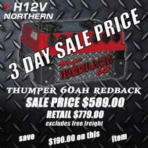 thumper-60ah-redback-3-day-sale