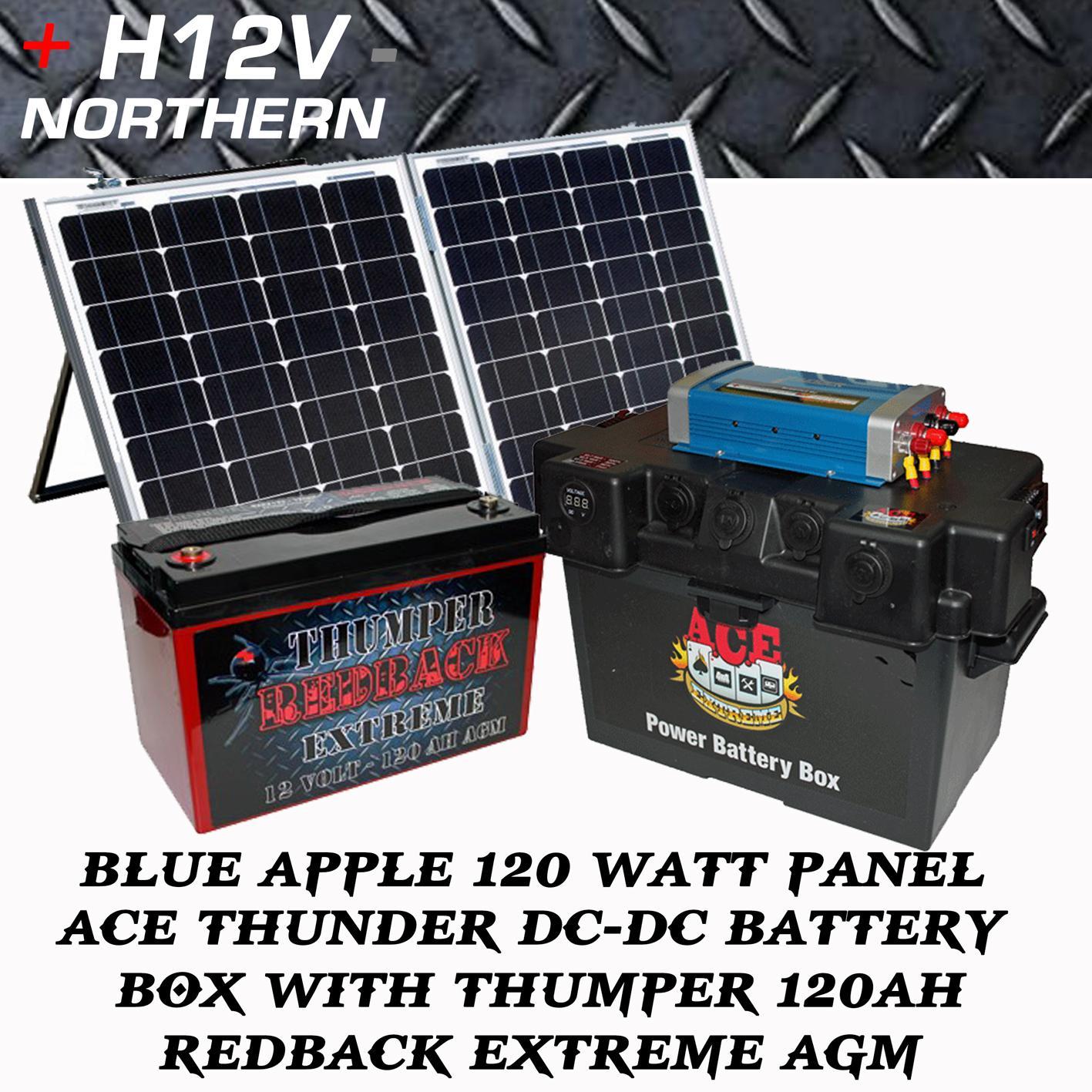 Ba 120 Watt Split Fold Thumper Redback Ext 120ah Ace