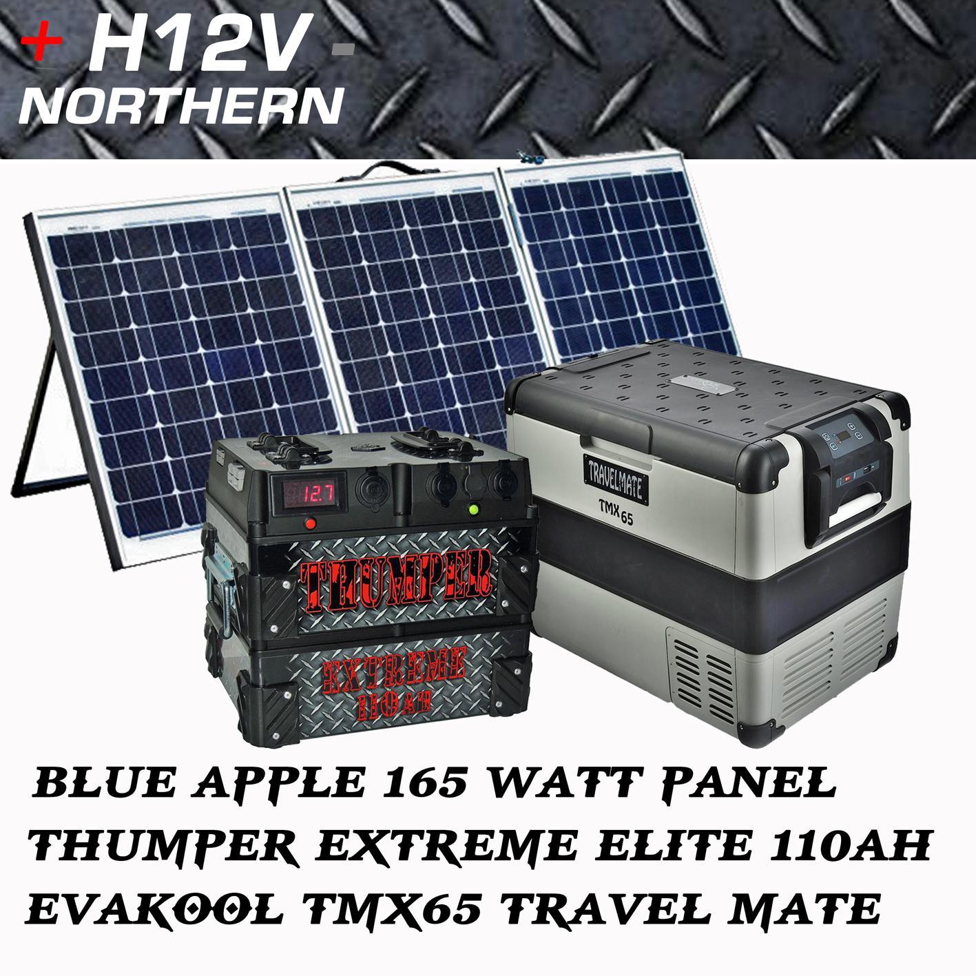 Ba 165 Watt Tri Fold Panel Thumper 110ah Elite Evakool
