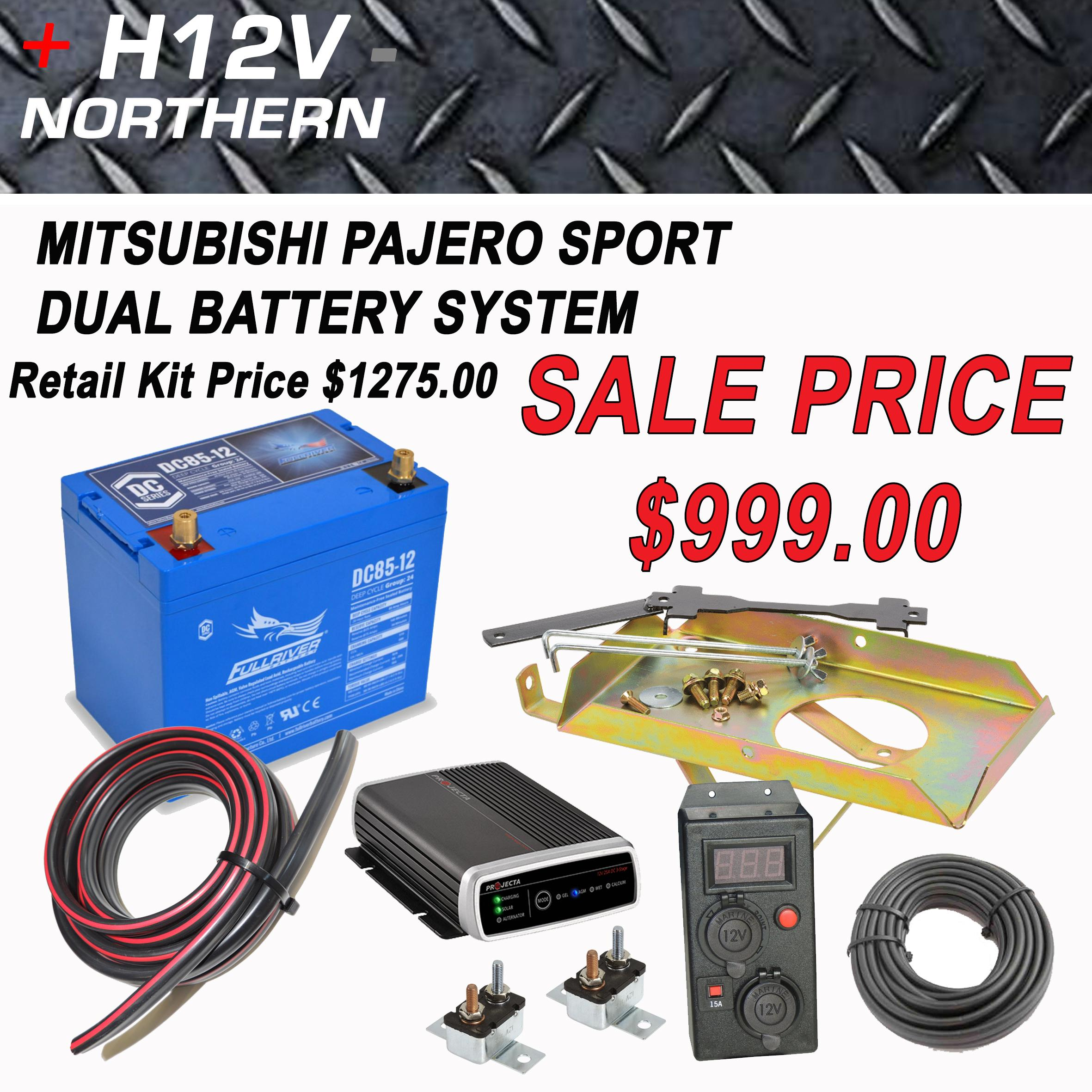 Mitsibishi Pajero Sport Dual Battery System Home Of 12