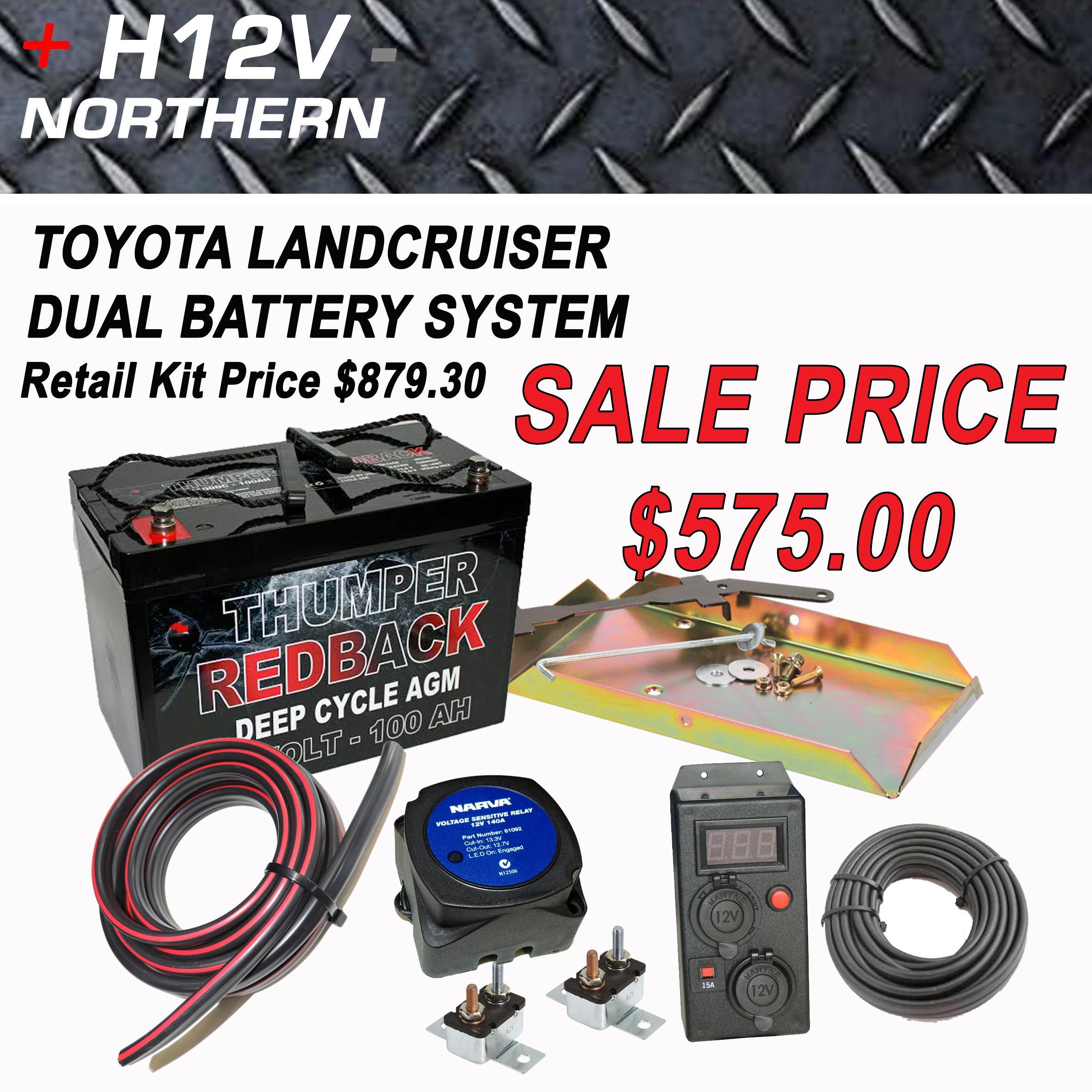 Toyota Landcruiser 100 Series Dual Battery Kit Home Of