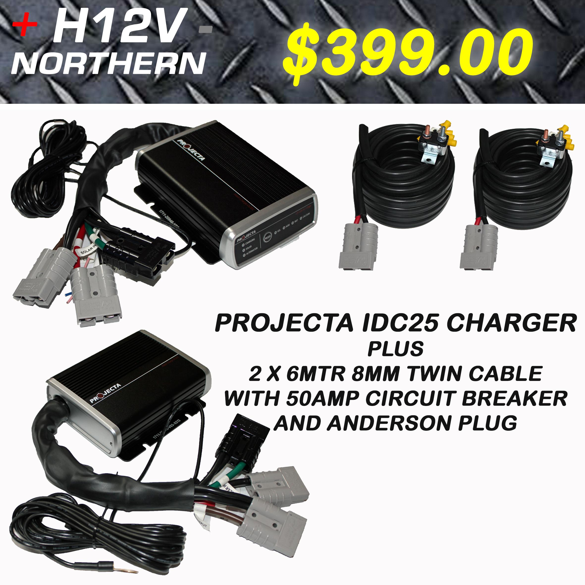 Projecta Idc25 Charger Anderson Quick Connect With 8mm Cable Package