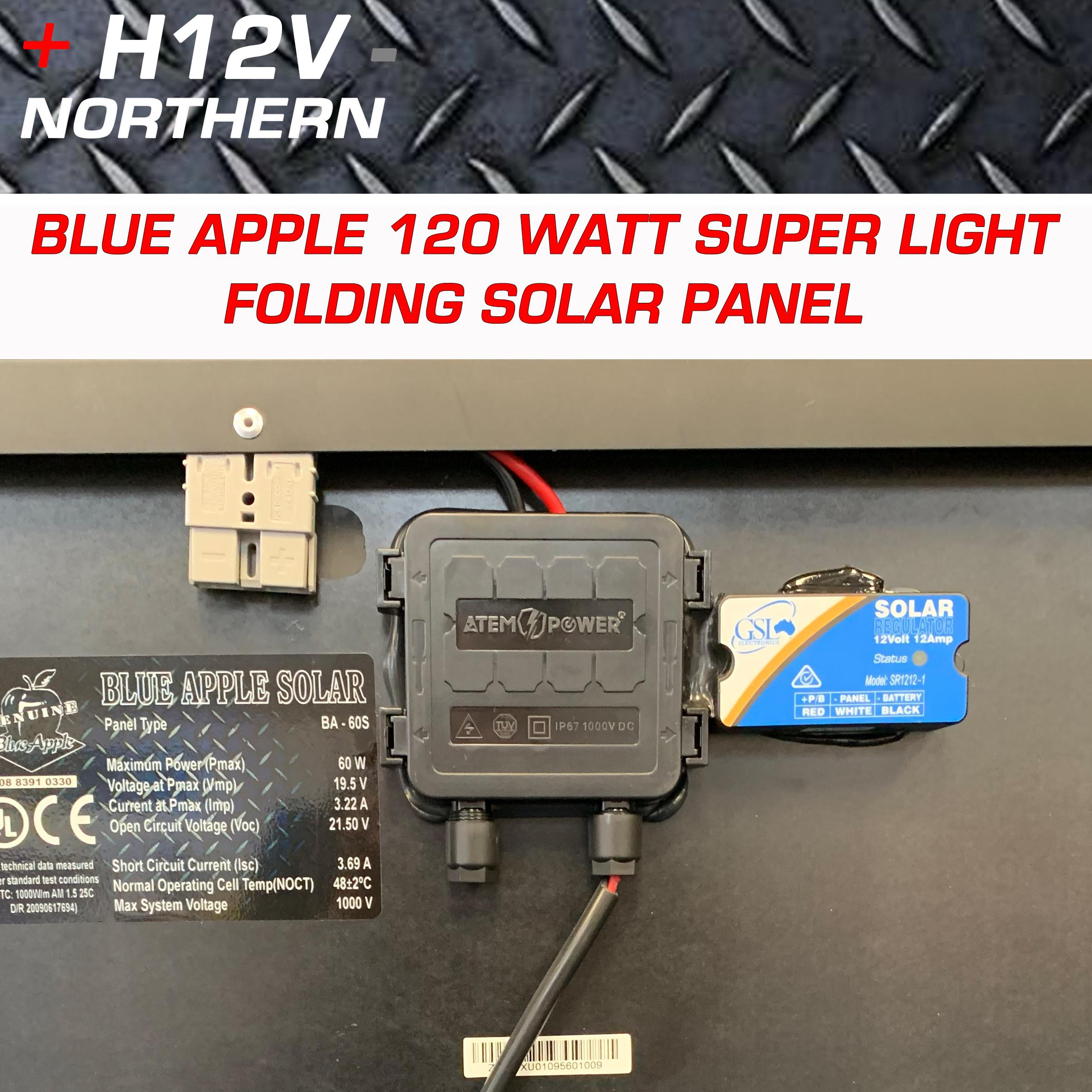 Blue Apple 120 Watt Super Thin Portable Split Fold Panel