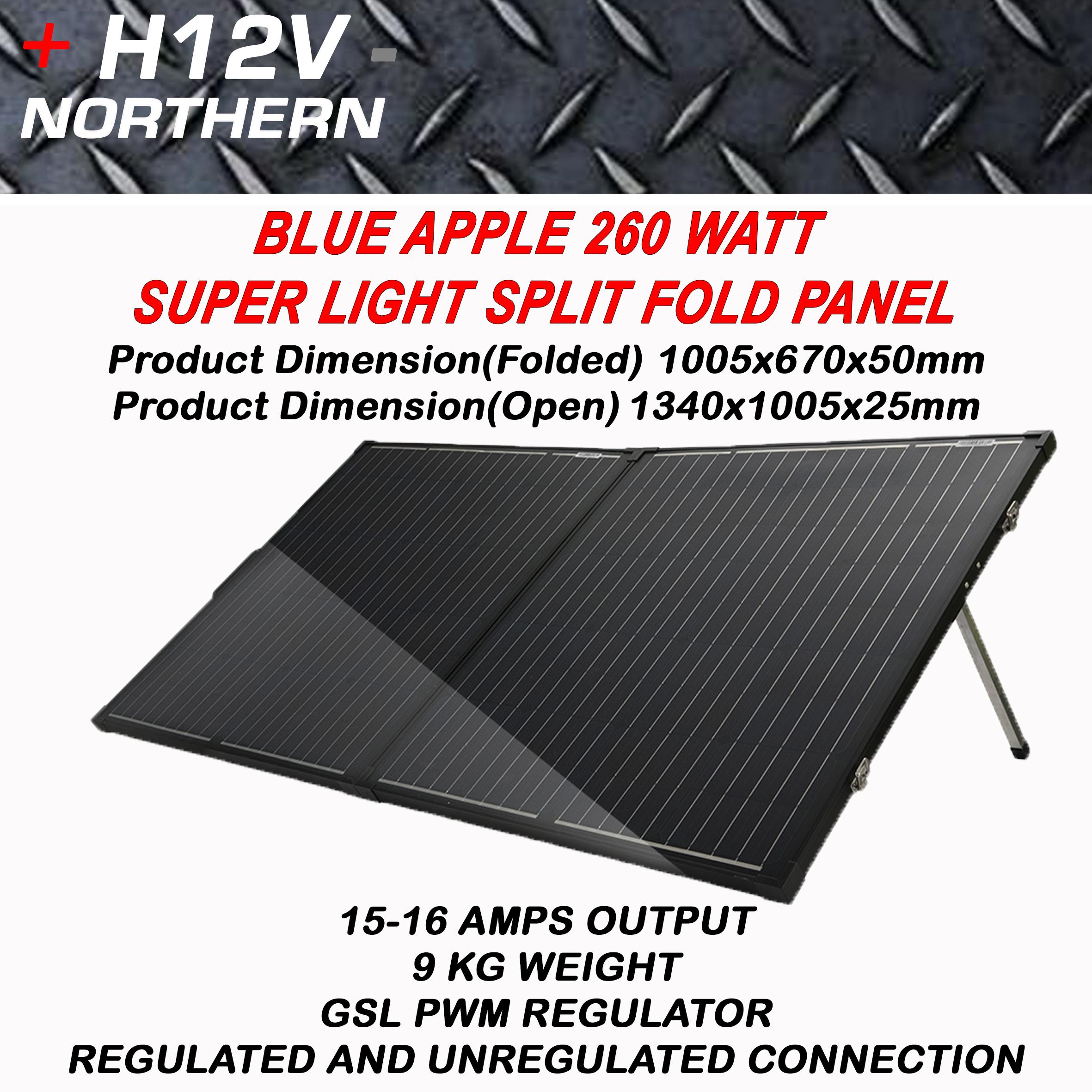 Blue Apple 260 Watt Super Thin Portable Split Fold Panel