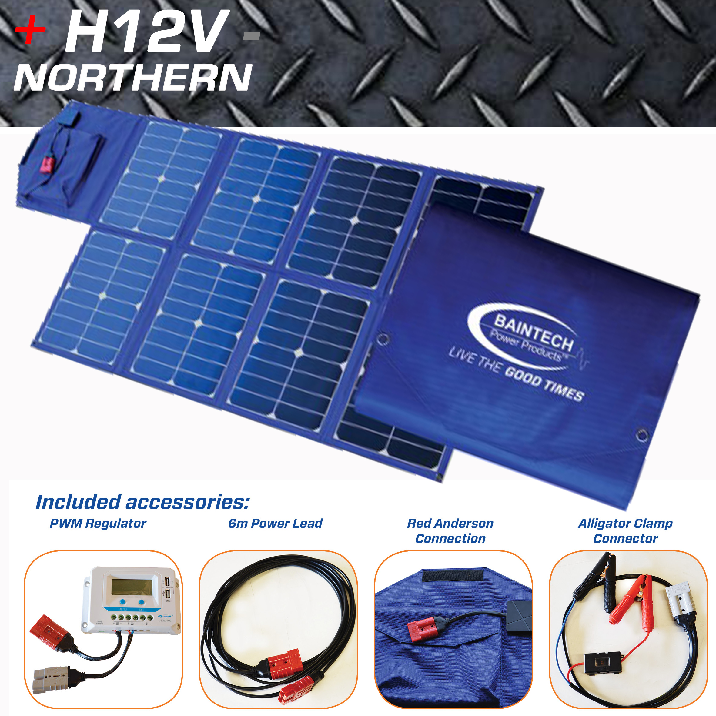 Baintuff 120 Watt Folding Solar Panel Home Of 12 Volt