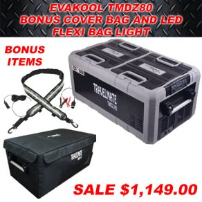 Evakool TMDZ80 with Cover and Led Bag Light