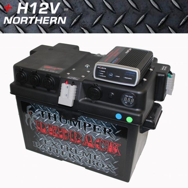Thumper Lithium Dc Dc Battery Box With Solar King 100ah