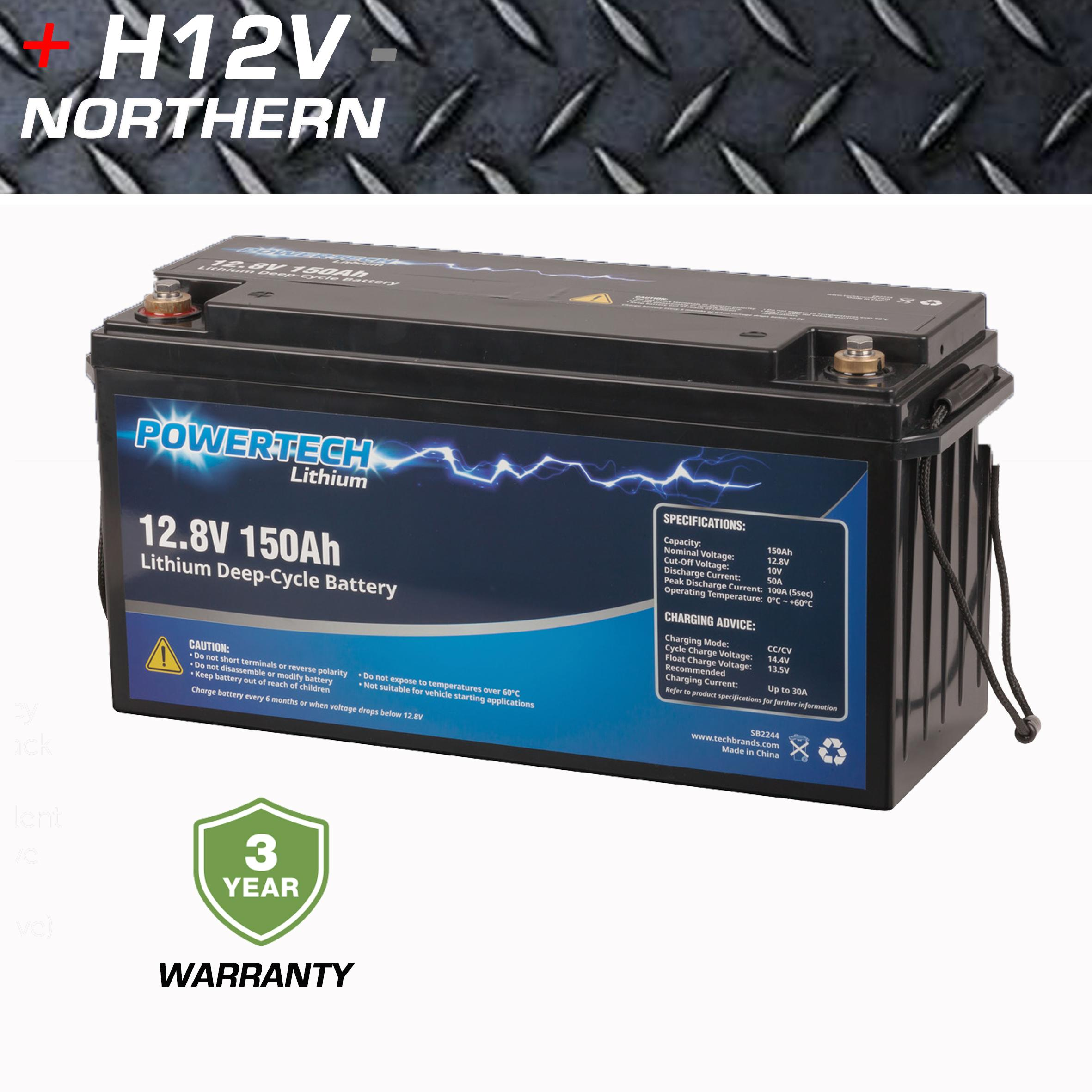 Powertech 150amp Lifepo4 Lithium Battery Home Of 12 Volt