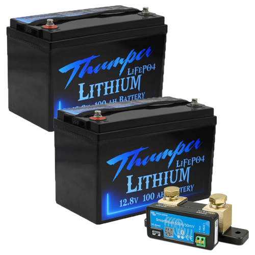 Thumper 100amp lithium x 2 with Victron SmartShunt