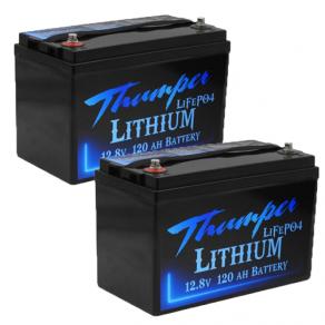 Thumper 120amp lithium x 2