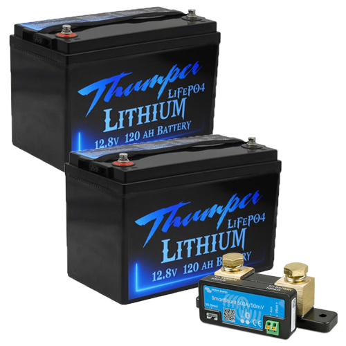 Thumper 120amp lithium x 2 with Victron Smart Shunt