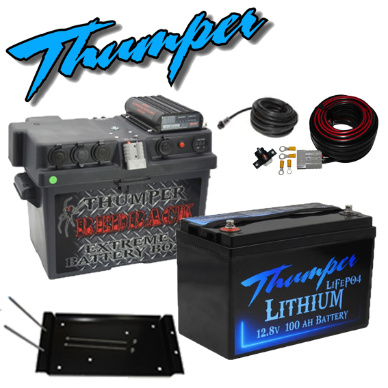 Thumper DC battery box with Thumper 100amp lithium